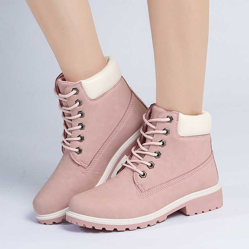 Image 5 - Designer Winter Ankle Snow Boots For Women Female Warm Fur White Boots Lace Up Bota Feminina Shoes For Women Botas Mujer-in Ankle Boots from Shoes