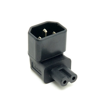 5m 1 pcs european 2pin male plug to angled iec320 c7 female socket power cable eu power adapter cord 90 Degree Right Angled IEC angle IEC320 IEC 320 C14 Socket to IEC C7 AC Power Plug Adapter connector Set UL Approved