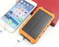 High quality Solar Power Bank 10000mAh Dual USB Portable Solar Panel External Battery Charger for xiaomi iphone