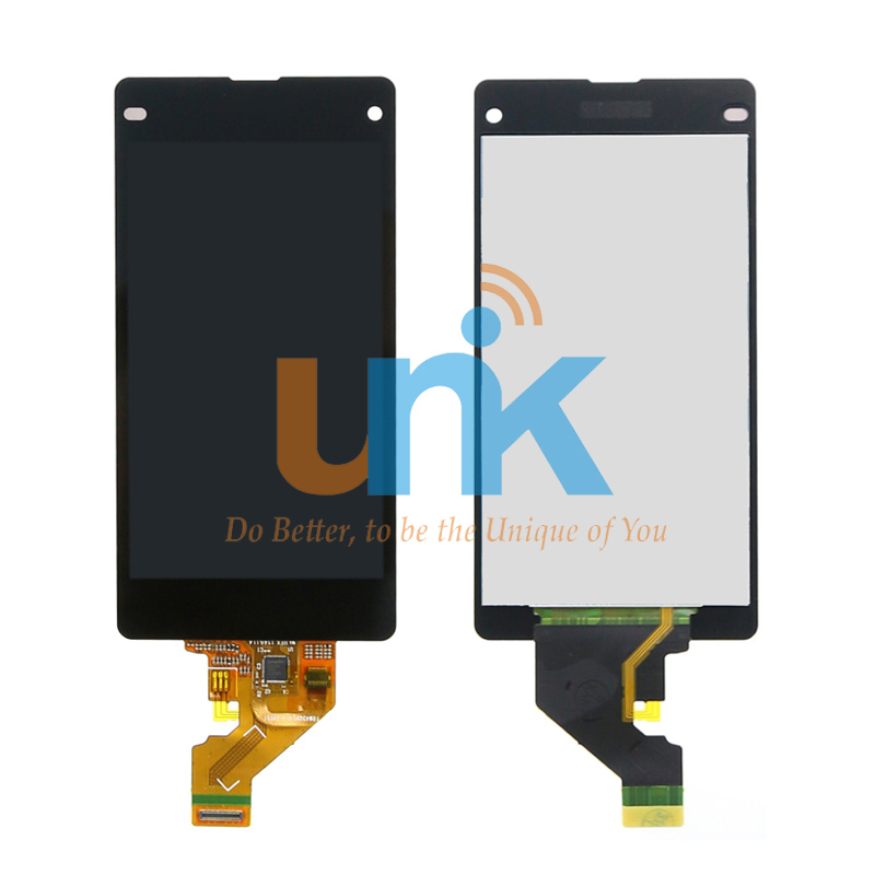 Free DHL 10PCS For Sony Xperia Z1 compact LCD Screen With Touch Screen Digitizer Assembly Free Shipping Z1 MINI Screen dhl 10pcs 2015 new lcd display touch screen digitizer assembly with frame for sony xperia z1 mini d5503 z1c m51w free shipping