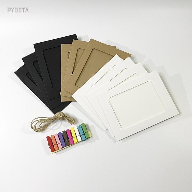 50pcs 3 5 6 7inch blank kraft paper paper photo frames white