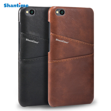 Luxury Vintage PU Leather Back Cover For Xiaomi Redmi GO Phone Case Card Slot