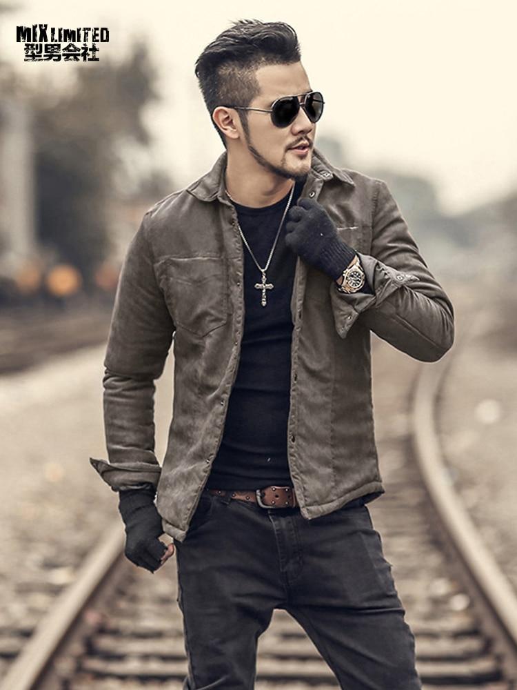 casual european winter coat slim warm brand metrosexual outwear solid cotton short clothing alibaba
