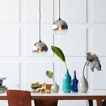 Modern Pendant Lights Glass Lamp Loft Hanging Light Fixture for Bar Kitchen Dining Room Study Nordic Suspension Led Hanglamp E27