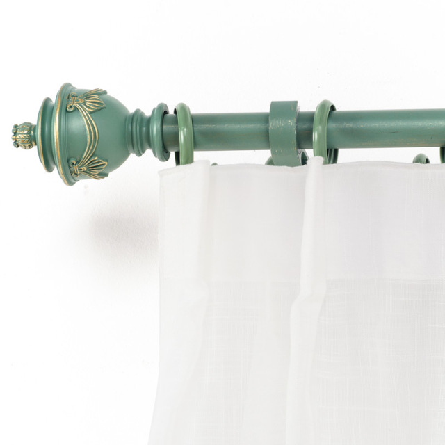Farmhouse Style Curtain Rod Set Single And Double Curtain Pole Mute