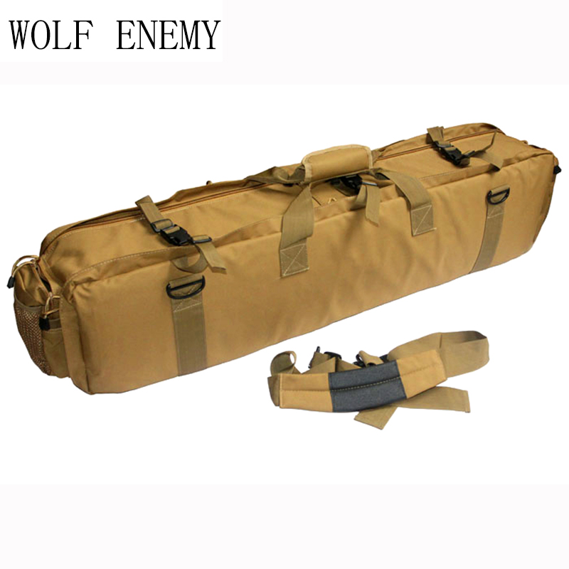 100CM Military Airsoft Combat Carrying 1000D Nylon Case Tactical M249 Gun Bag emerson 85cm tactical military paintball rifle carrying case bag nylon airsoft combat cs field dual gun bag for hunting sport