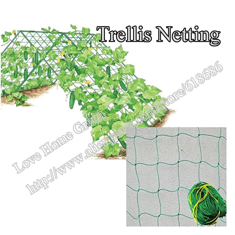Nylon Trellis Netting Plant Climbing Net Support Vegetable Support Green 1 8X3 6M