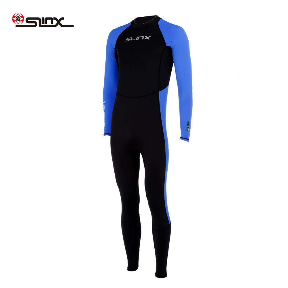 89add4474a82 € 16.89 25% de DESCUENTO|SLINX 1707 hombres traje de manga larga protector  de neopreno traje de buceo con único casco DE BUCEO DE SURF nadar en ...