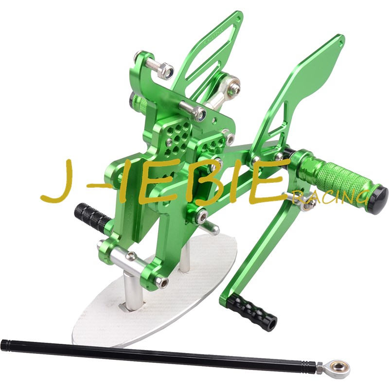 CNC Racing Rearset Adjustable Rear Sets Foot pegs Fit For Yamaha YZF R6 2003 2004 2005 R6S 2006 2007 2008 2009 GREEN кемпинговая палатка trek planet indiana 5 70114