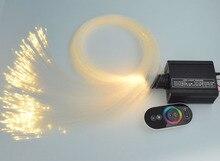 16 Вт ПРИВЕЛО ПММА Волокно 0 ptic Звезда Потолочный Комплект light 0.75 мм (300 шт. * 2.5 м) 1 мм (50 шт. * 2 м) + 2 мм (10 шт. * 2 м) + свет engien сенсорный пульт дистанционного