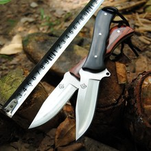 Handmade Hunting Knife D2 Steel Blade Outdoor Camping Survival Tactics Fixed Knife Wood Handle Military Pocket Knife Tool