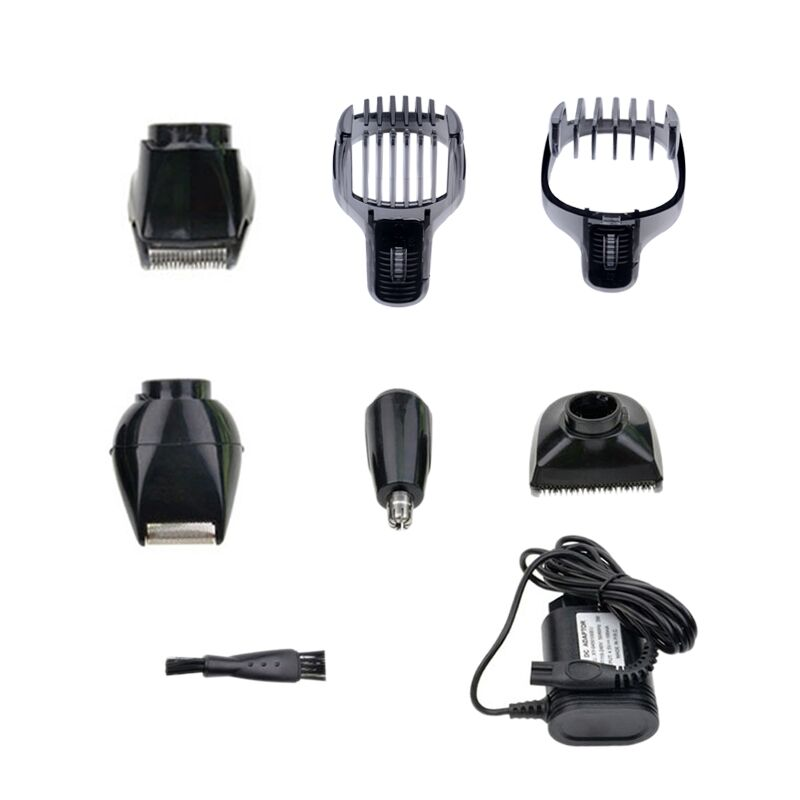 Kemei 5 in 1 Rechargeable Hair Clipper Beard Nose Trimmer Shaver for Men Systemic Waterproof Professional Male Shaving Machine P kemei 5 in 1 rechargeable cordless hair clipper electric shaver beard trimmer men styling tools shaving machine cutting cutter