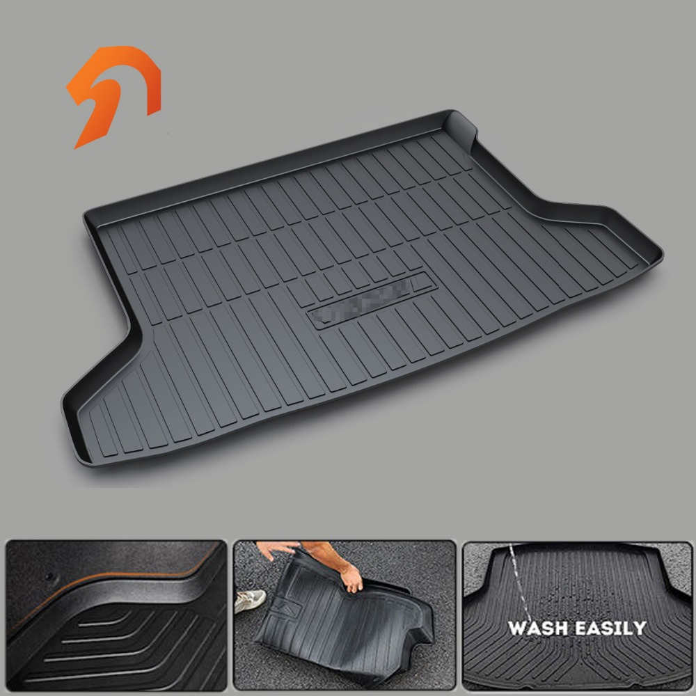 Custom fit car trunk mat for HONDA  BRV VEZEL Hybrid Hybrid SPIRIOR BOOT LINER REAR TRUNK CARGO MAT FLOOR TRAY CARPET MUD COVER car rear trunk security shield cargo cover for honda fit jazz 2008 09 10 11 2012 2013 high qualit black beige auto accessories