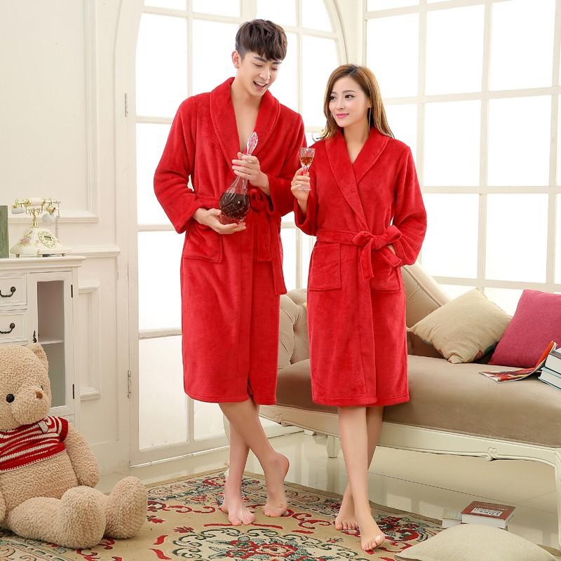 Unisex Mens Women\'s Long Polyester Sleep Lounge Robes RBS-C LYQ114 12