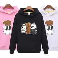 We Bare Bears Hoodies Cartoon Clothing Plus Size The Three Bare Bears Clothes womens sweatshirt 2018 autumn women fashion