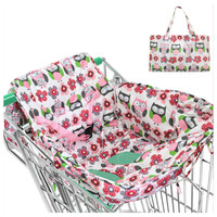 Baby Infant Supermarket Shopping Cart Cushion Pad Child Protection Shopping Cart Covers for Baby Shopping Trolley Cover