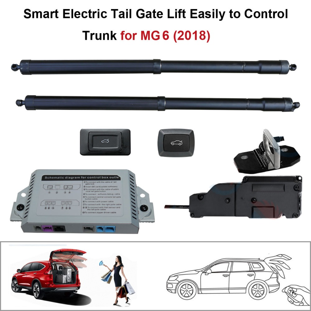 Car Electric Tail Gate Lift For MG6 2018 With Latch Control By Remote