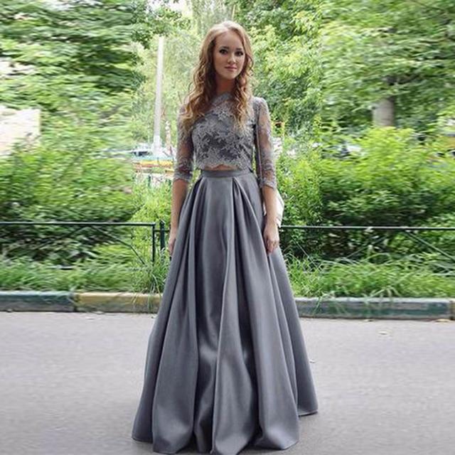 Dark Gray Satin Long Skirts Womens Zipper Waist Floor Length Maxi Skirt  Vintage Pleated Formal Party Prom Skirt Custom Made dcfbd4022