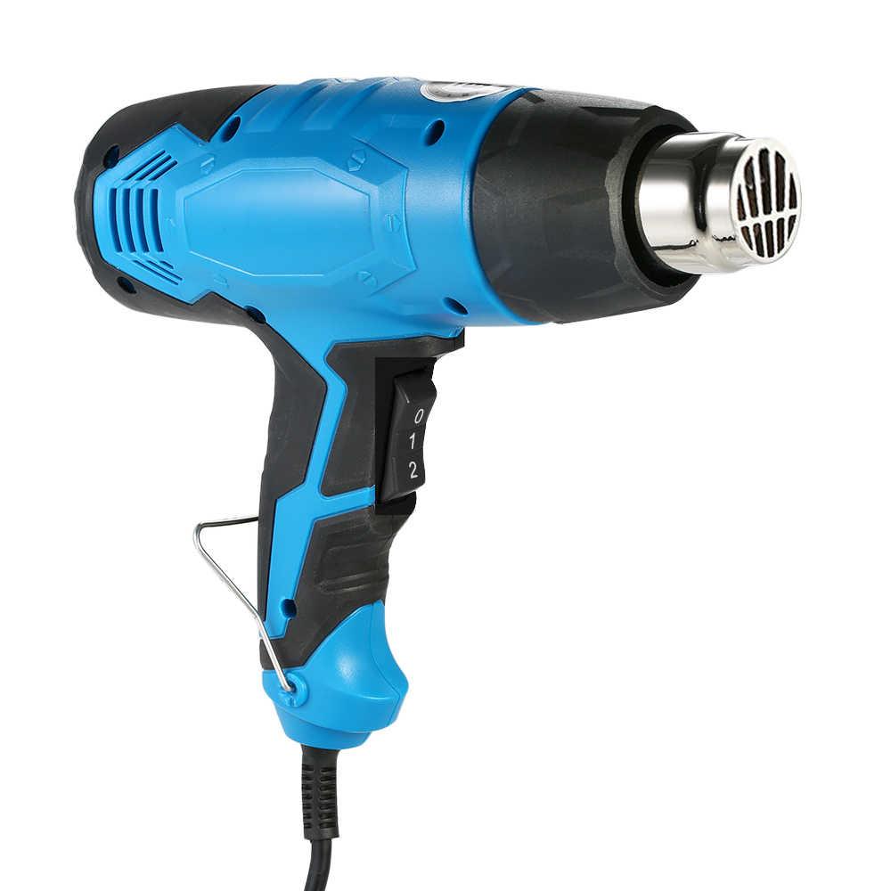 Цифровой электрический пистолет горячего воздуха с температурным управлением тепловой IC SMD пайки сварочные инструменты темно-синий пистолет 1800 Вт AC110V (ЕС/США)
