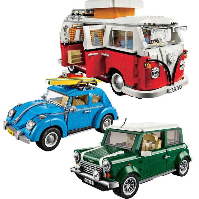 T1 Camper Van Mini Cooper Building Blocks Toys For Children