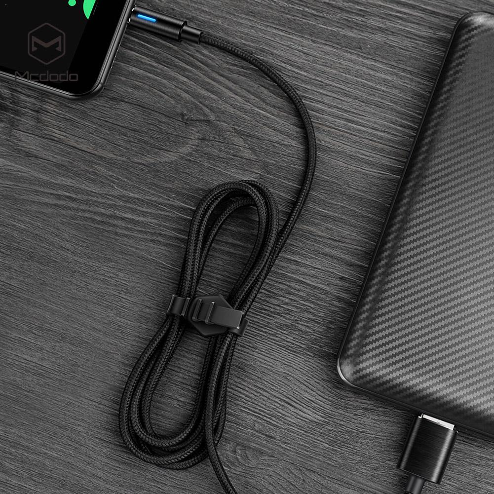 Type C Smart Auto Disconnect 90 Degree Right Angle Nylon Braided Sync Charge USB Data Cable For Samsung Galaxy Huawei Xiaomi in Data Cables from Consumer Electronics
