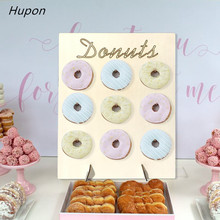 1pc Rustic Wedding Decoration Donut Wood Stand Holder Baby Shower Kids Birthday Party DIY Supplies