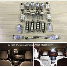 19 шт. Автомобильный светодиодный светильник для Audi A6 C6 Avant, Canbus Авто Лампа для внутреннего освещения для Audi A6 4F 05-11 купольные лампы для чтения