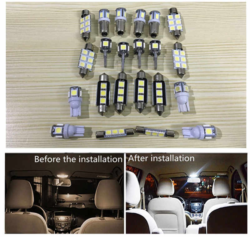 Detail Feedback Questions about 19pcs Car LED Light for Audi