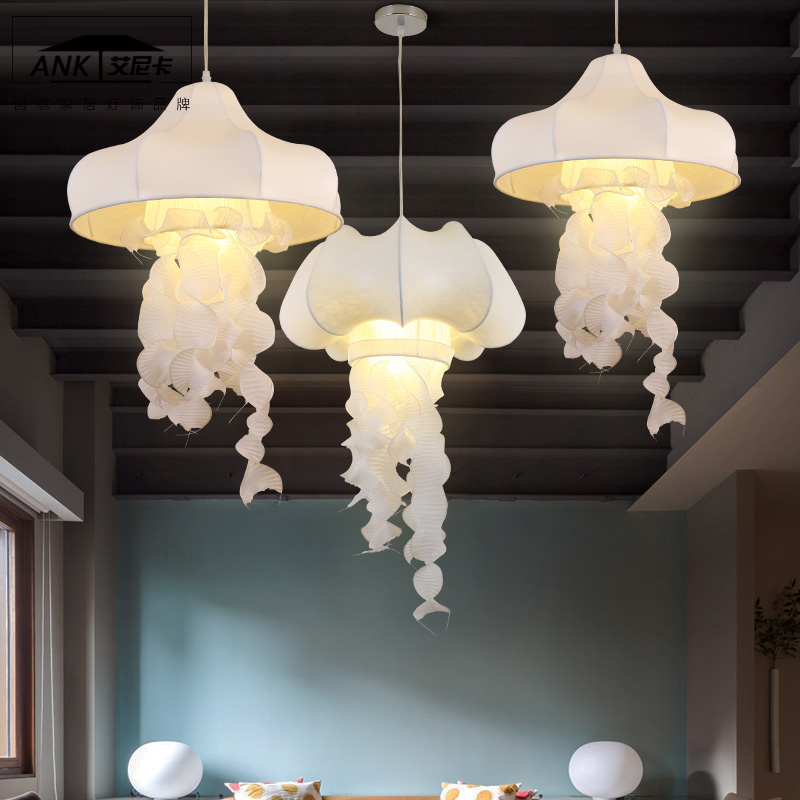 Silk Jellyfish pendant lights white cloth Cafe decorative corridor restaurant clothing store white cloth hone lighting l&s ZA-in Pendant Lights from ... & Silk Jellyfish pendant lights white cloth Cafe decorative corridor ... azcodes.com