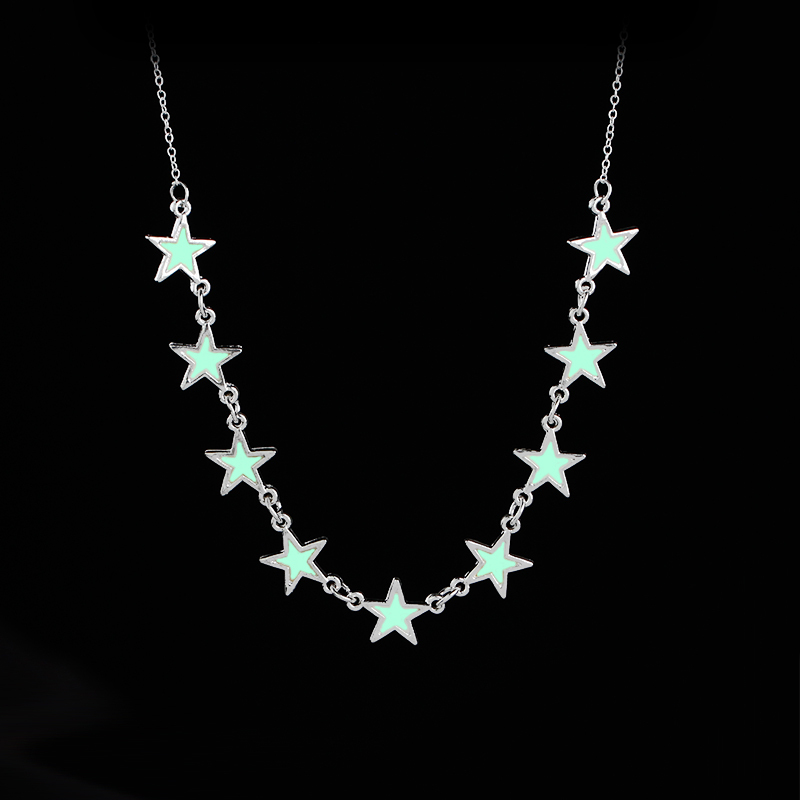 glow in the dark necklaces star Luminous Charms Necklace for