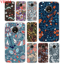 Deep Color Flowers Trend Accessories Phone Case For Motorola Moto G7 G6 G5S G5 E4 Plus G4 E5 Play Pattern Customized Coque Cover