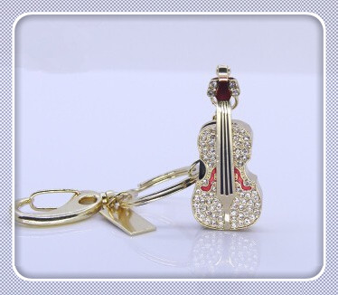 Hot sale Beautiful jewelry diamond guitar model usb flash drive gift for girl4gb 8gb 16gb 32gb 64gb menory u disk pen drive S236