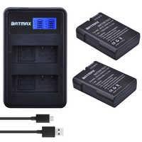 2 uds EN-EL14 EN-EL14a ENEL14 es EL14 EL14a batería + LCD USB cargador Dual para Nikon D3100 D3200 D3300 D5100 D5200 D5300 P7000
