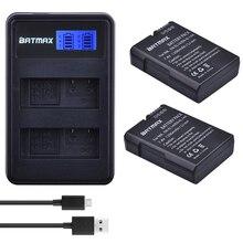 Batería EN EL14 ENEL14 EN EL14 EL14a + cargador Dual USB LCD para Nikon D3100 D3200 D3300 D5100 D5200 D5300 P7000, 2 uds. EN EL14a