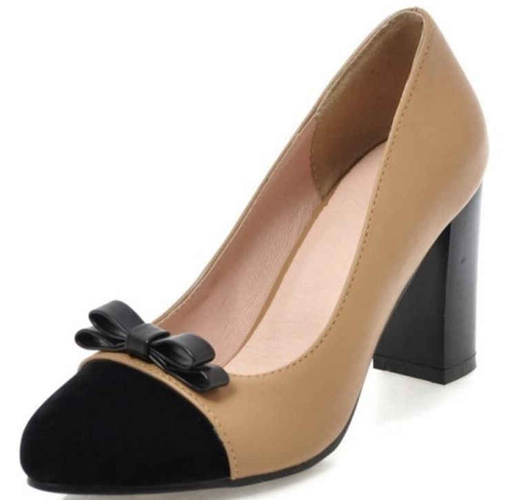 Belle Chaussure Femme pompes Sapato Feminino Chunky femmes bureau dames chaussures talons hauts Zapatos Mujer Femme P161688