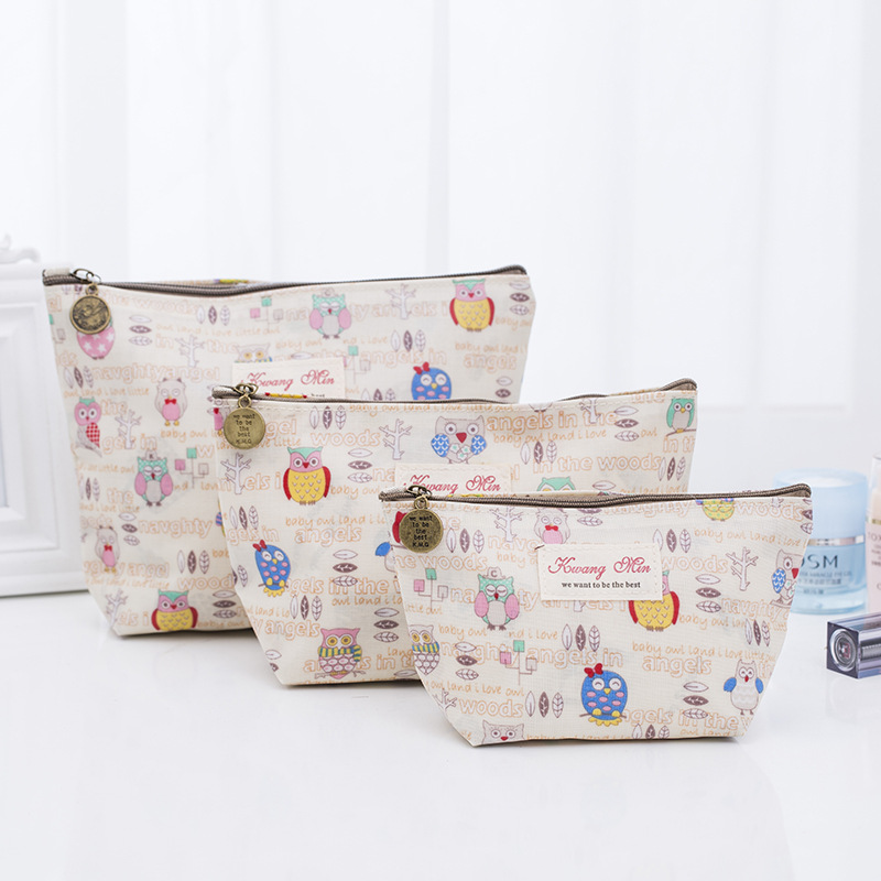 2018 New Creative Owl Pattern Women Makeup bag Cosmetic bags beauty Case Item Organizer Toiletry bag Pocket Travel Wash pouch