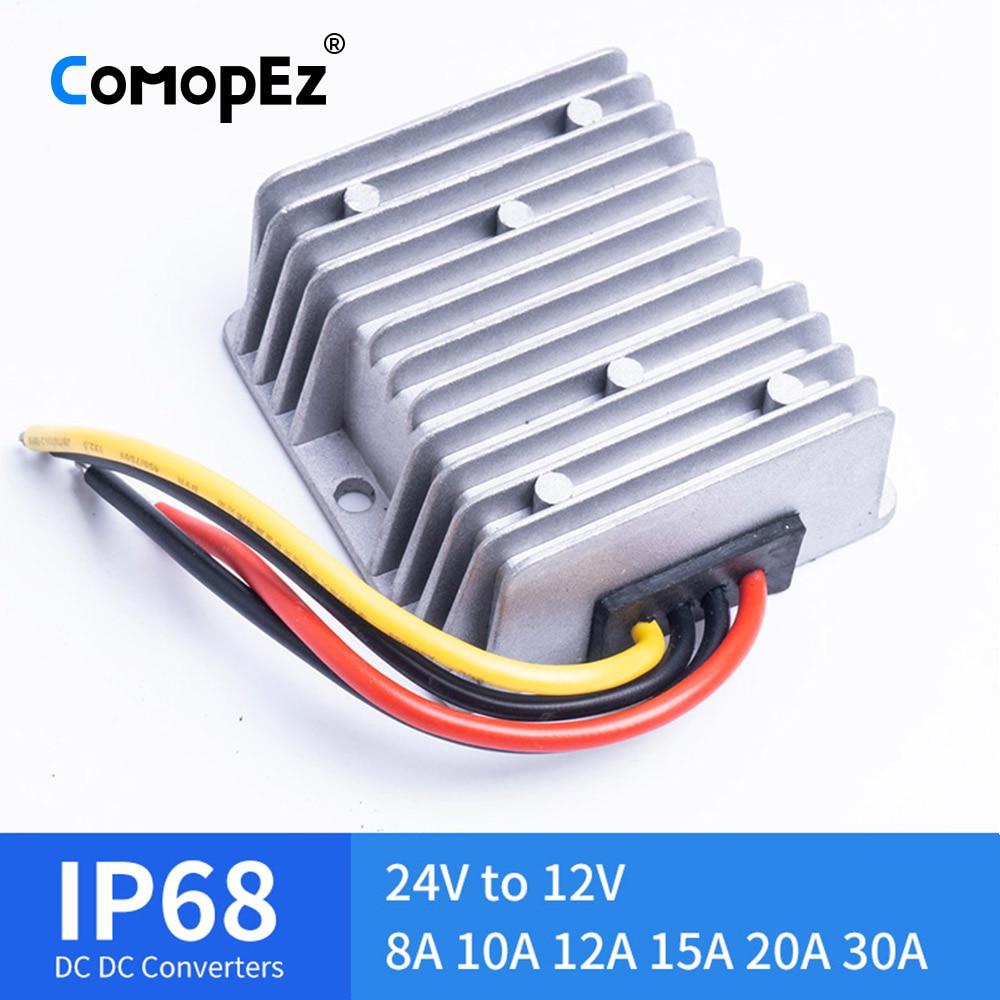 24 V à 12 V 8A 10A 12A 15A 20A 30A 120 W abaisseur DC convertisseur DC 24 volts à 12 volts DC-DC régulateur de tension pour voitures solaires