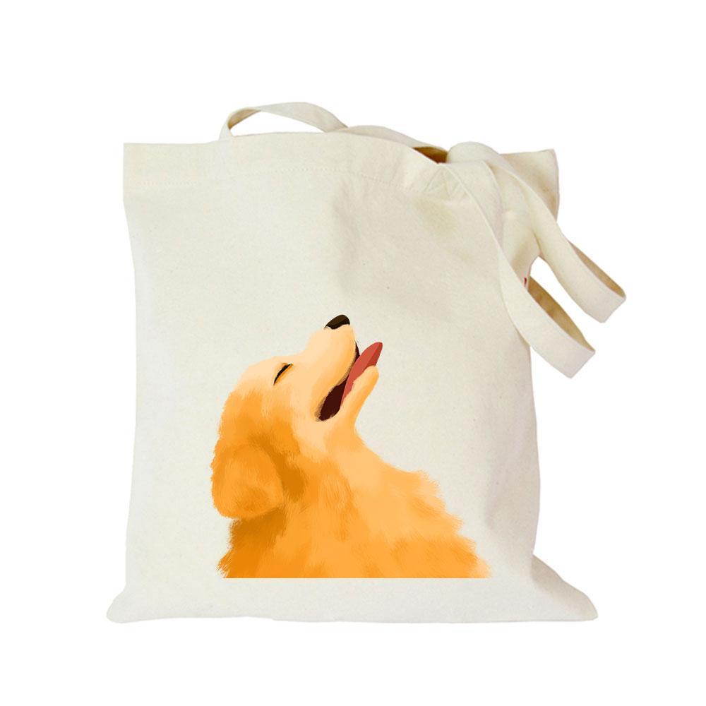 2019 Pet dog series canvas bag customized eco custom tote bag custom made shopping bags with logo Dachshund Shepherd Dog Poodle (3)