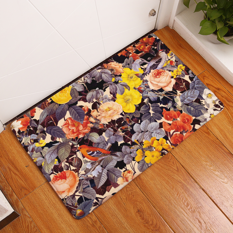 20 Style Floral Print Carpets Anti Slip Floor Mat Outdoor Rugs Front Door  Mats 40X60