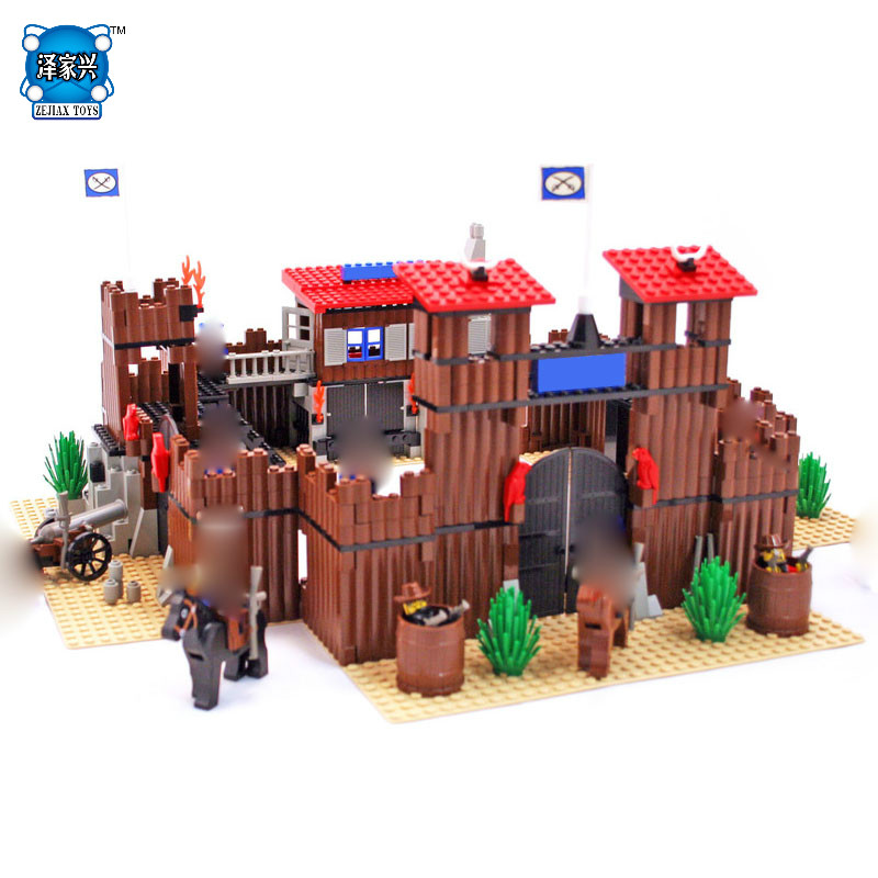 Lepins 742Pcs Genuine Building Series The Idian Cowboy`s Castle Set Educational Building Blocks Bricks Figures Toys Model Gift new diy 742pcs genuine building series the idian cowboy s castle set educational lepines building blocks bricks toys model gift