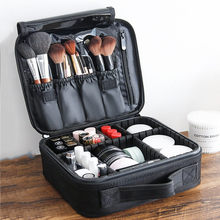 Women Fashion Cosmetic Bag Travel Makeup Organizer Professional Make Up Box Cosmetics Pouch Bags Beauty Case For Makeup Artist makeup pack cosmetics case professional storage large box partition portable 3 layer beauty tattoo kit cosmetic bag make up