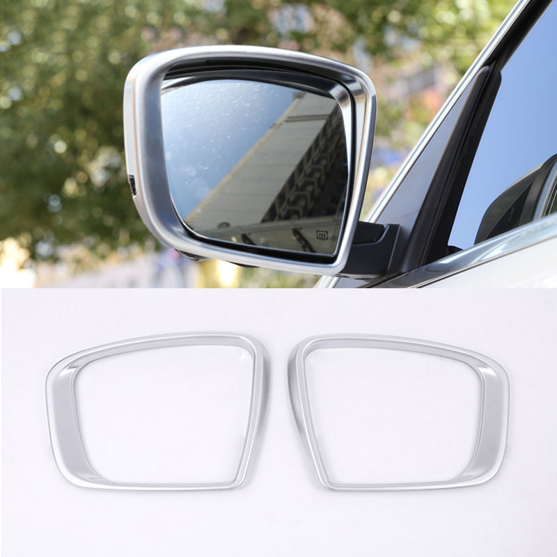 цена на For Maserati Levante 2016 Car Styling ABS Chrome Side Rearview Mirror Frame Cover Trim Sticker Accessories New 2pcs