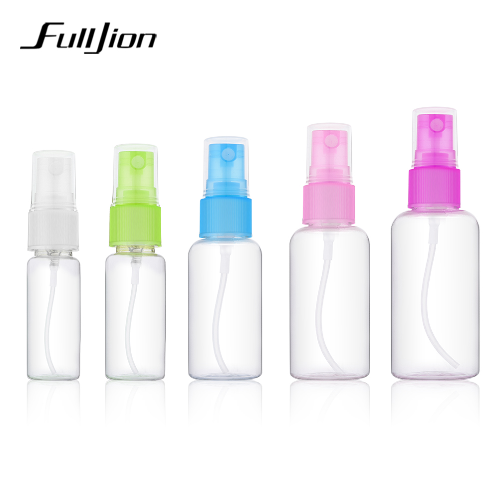 Fulljion 1 Pcs Mini Plastic Transparent Small Empty Spray Bottle For Make Up And Skin Care Refillable Random Color Travel use funny blades style small plastic spinning tops random color 4 pcs