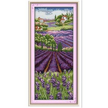 Lavender Champaign Painting Cross stitch kits Embroidery Cross Set Chinese Counted Cross Stitch Pattern 11CT Printed On Canvas(China)