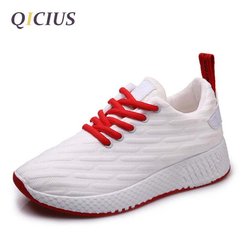 QICIUS New Arrival High Quality Women Shoes Casual Air Mesh Breathable Loafers Women Flats Lace Up Shoes Female 2017 Shoes B0099 high quality men casual shoes fashion lace up air mesh shoe men s 2017 autumn design breathable lightweight walking shoes e62