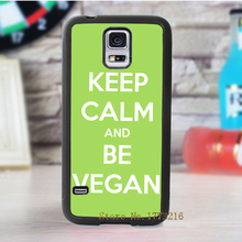 """Keep Calm and be Vegan"" for Samsung Galaxy s3 s4 s5 s6 s7 s6 edge s7 edge note 3 note 4 note 5"