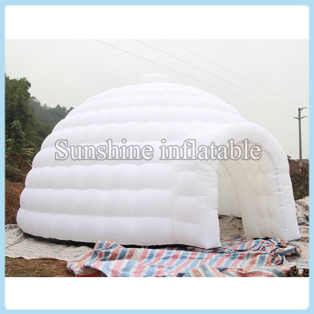 High quality portable white inflatable dome/inflatable igloo tent/inflatable canopy with top window