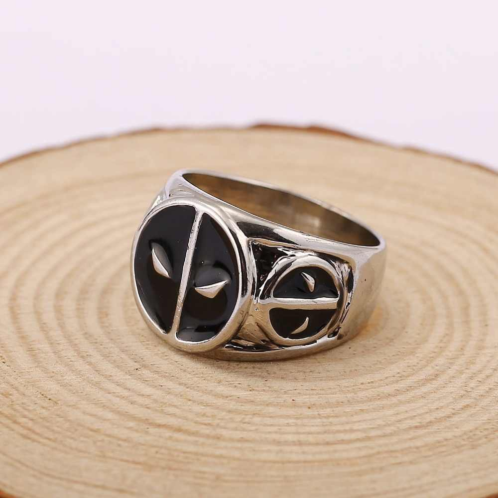 HSIC Brand New DEADPOOL Logo Zinc Alloy Metal Rings For Women Men Size 9 Xmas Gifts HC11672