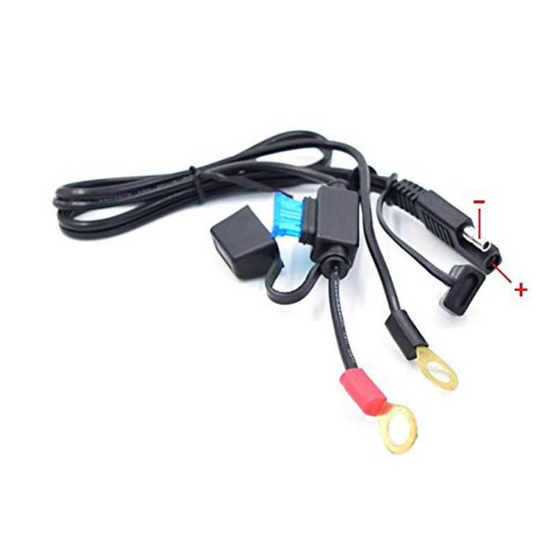New 12V Charger Cable For Motorcycle Battery Terminal Quick Disconnect Cable Motorcycle Battery Output Connector