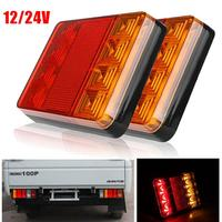 Vehemo 12V Waterproof Trailer Truck 8 LED Taillight Tail Light Rear Lamps Turn Signal Brake Number